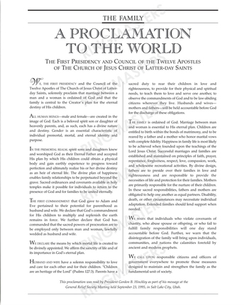 graphic relating to The Family a Proclamation to the World Printable known as The Loved ones: A Proclamation towards the Earth Giuseppe Martinengo
